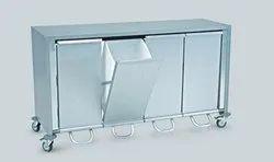 VMTL Mild Steel Bio Medical Dustbin Trolley, Cart Size: 6 Ft X 1.5 Ft X 2.5ft, Model Name/Number: Vmtlbio002