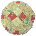 Home Decor Indian Vintage Embroidered Cotton Round Floor Cushions 32 Inches
