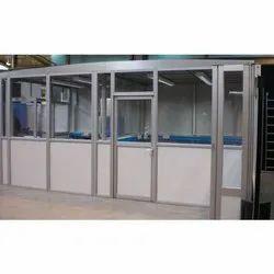 Modi Guard Hinged Aluminium Glass Door, For Office, Thickness: 10mm
