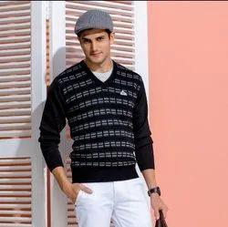 Black Woolen Men's Pullovers
