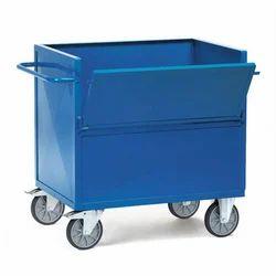 Rubber Wheels MS Box Trolley