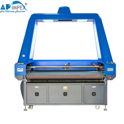 Embroidery Fabric Vision Camera Laser Cutting Machine