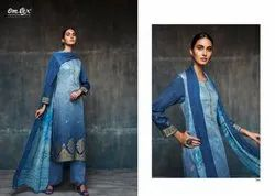 Cotton Unstitched Omtex Designer Suits for Party Wear