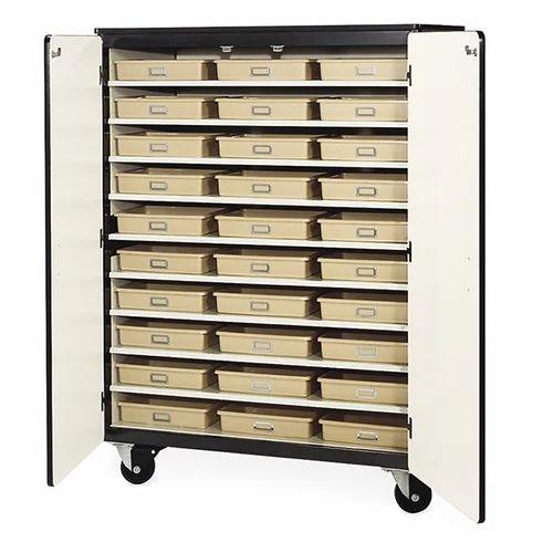 White Mobile Storage Cabinet