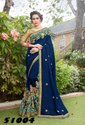 Pretty Georgette Embroidered Party Wear Saree