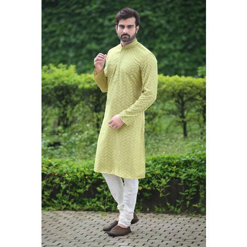 b830f1d980 Lyril Colour Silk Designer Men Kurta Payjama, Rs 1825 /piece | ID ...