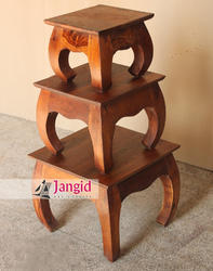 Brown Solid Wooden Center Table