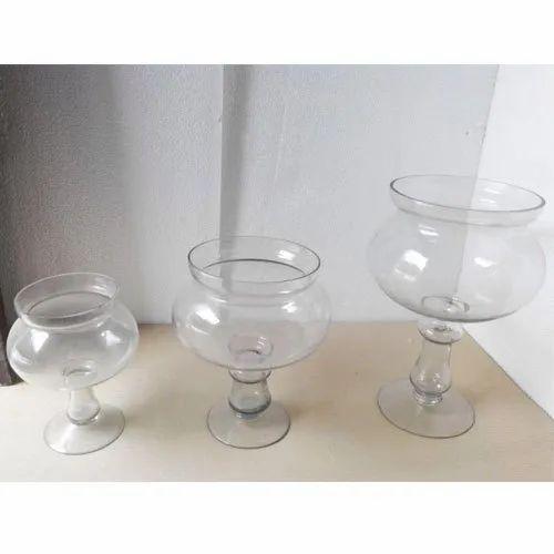 Glass Samadan Clear Holder