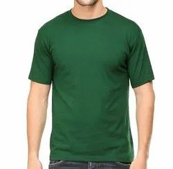 Mens Green Round Neck T Shirts