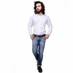 Men Cotton Full Sleeve Plain Casual Shirt, Size: 40-44