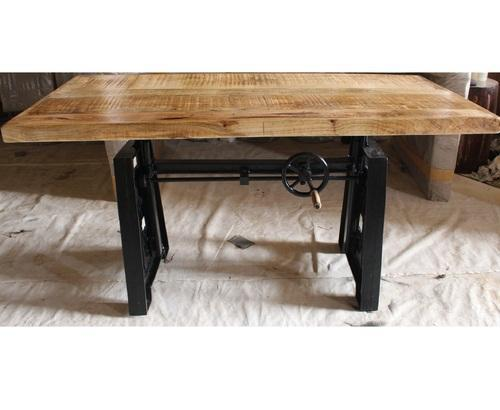Nd Art Export Optional Rectangular Industrial Mango Wood Dining