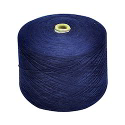 Blue Polyester Cotton Dyed Yarn, For Fibers And Fabrics