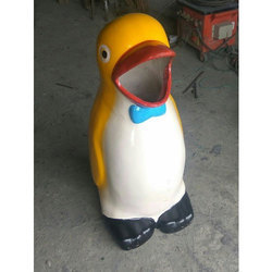 FRP Open Mouth Penguin Dustbin (Small)