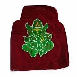 Navneet Handicraft Red and Green Ganesh Velvet Bag