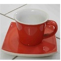 Ceramic Glazed Cup and Saucer