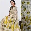 Chanderi Silk Bagru Printed  Saree