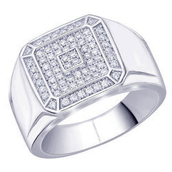 Silver And CZ Diamond Party Wear Designer Silver Ring