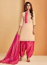 Kesari Exports Soft Silk Regular Wear Punjabi Suits