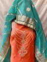 Chanderi Gota Patti Work Suit