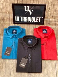 Male Full Sleeves Plain Lycra Shirts For Mens