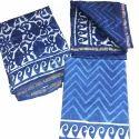 Indigo Print Unstitched Chanderi Silk Suit