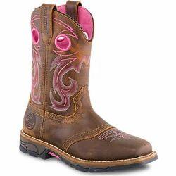 Ambur Glow Leather Ladies Designer Boot