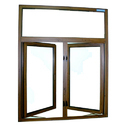 Fortune Aluminium Casement Window, For Residential