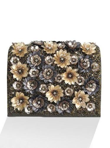 provide plenty of presenting best site Studio Accessories Gold Floral Black Clutch Bag