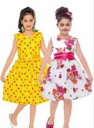 Multicolor Girl Kids Dress