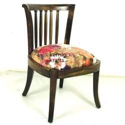 Black Kernig Krafts Hand Made Cushion Indian Wooden Chair