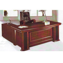 Wooden L Shape Executive Table, For Home, Office, Brown
