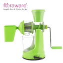 Floraware Green Coloured with Waste Collector Fruit & Vegetable Plastic Hand Juicer