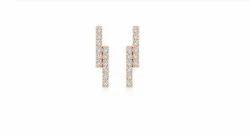 Diamond's Shape Round Earring Stud 100708