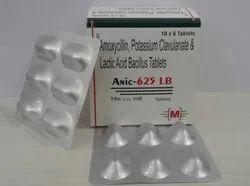 Amoxycillin 500 mg Clavulanic Acid 125 mg Lactic Acid Tablets