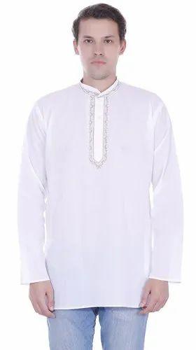 3d7c71682 Skavij Mens Casual Kurta T- Shirt Long Sleeve Button Down Dress Relax Fit  Cotton Tunic