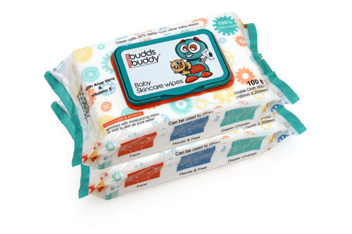 e3ab24c7753b7 White Buddsbuddy Combo Of 2 Baby Skincare Wet Wipes - 100pcs Pack ...