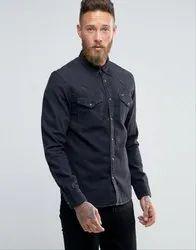 Cotton Collar Neck Mens Plain Shirt