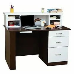 White and Brown 3 Drawers Wooden Study Table