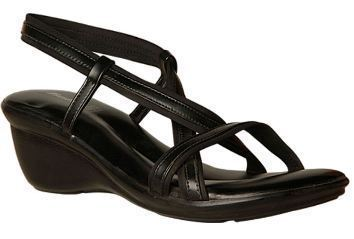 Leather Formal Bata Women Black Sandals F661615500, Size: 3 4 5 6 7