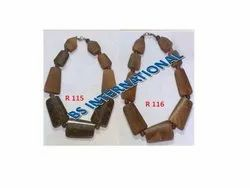 Brown Wooden Jewelry Necklace