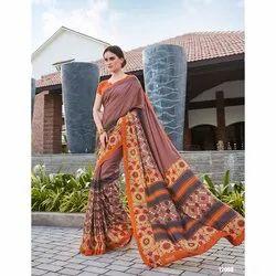 Party Wear Ladies Kovai Silk Printed Saree, 6.3 M (with Blouse Piece)