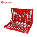 2 Tone Copper Stainless Steel Cutlery Set (27 Pcs)