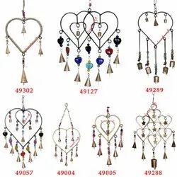 Heart Shaped Designer  Wrought  Iron Indian Handmade Wind Chimes Windchime