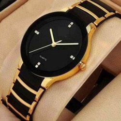 Round Casual Watches Iik Gold Men Watch, For Formal