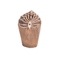 Lotus Flower Wooden Printing Block
