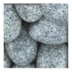White Base Natural Granite Pebble, Usage: Landscaping, Pavement, Deck