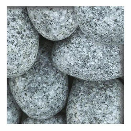 White Base Natural Granite Pebble Usage Landscaping Pavement