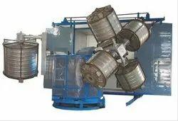 4 Arm Independent Bi Axial Rotomolding Machine