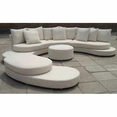 Leather White C Shape Sofa Set, Shape: C Shape, Rs 120000 /set | ID ...