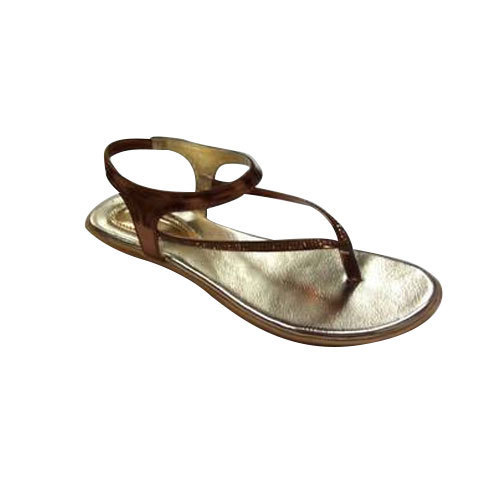 16659cd3f Micro Touch Golden   Brown Fancy Ladies Sandal